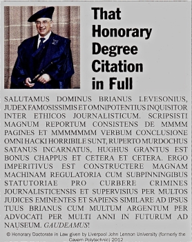 Private Eye LJL honorary degree