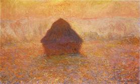 'Sun in the mist' Claude Monet, 1890