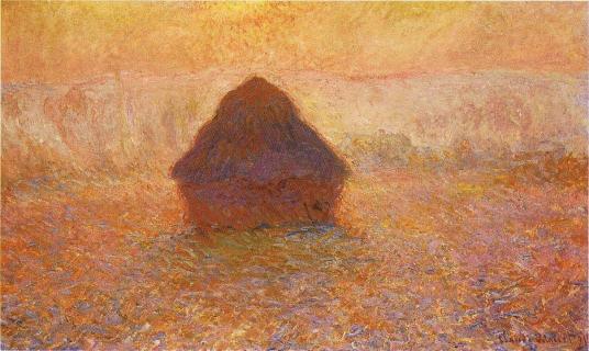 'Sun in the mist' Claude Monet, 1890