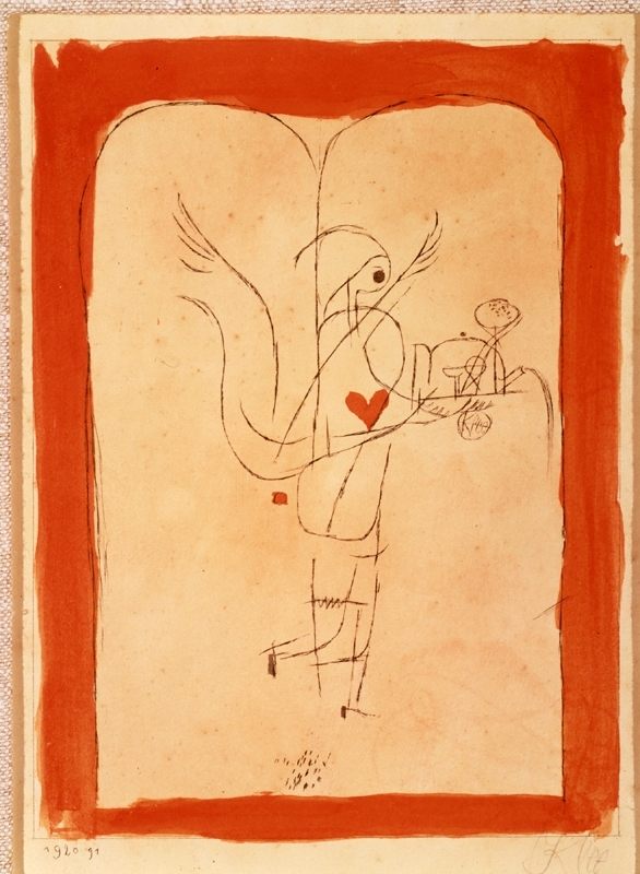 A Spirit Serves a Little Breakfast, Angel Brings What is Desired, Paul Klee, 1920