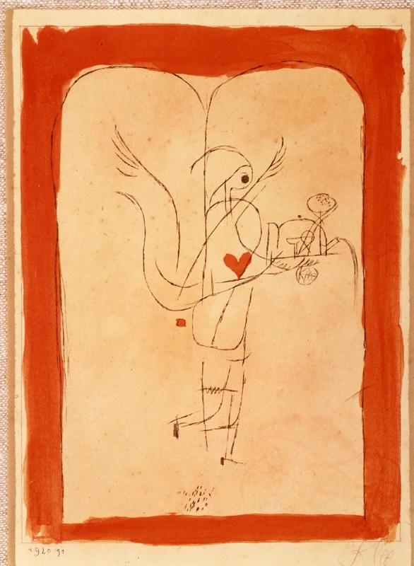 A Spirit Serves a Little Breakfast, Angel Brings What is Desired, Paul Klee, 1920
