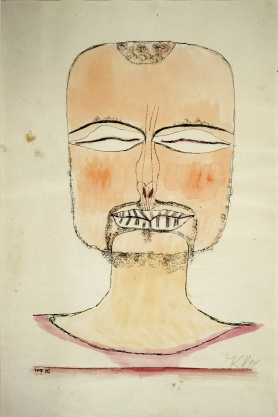 Absorption, self-portrait by Paul Klee, 1919
