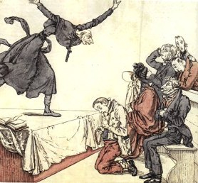 Bloggers can 'speak truth to power' as idiosyncratically as caricaturists  – An 1834 protest against corrupt clerics by the Swiss artist Martin Disteli: Wikimedia Commons