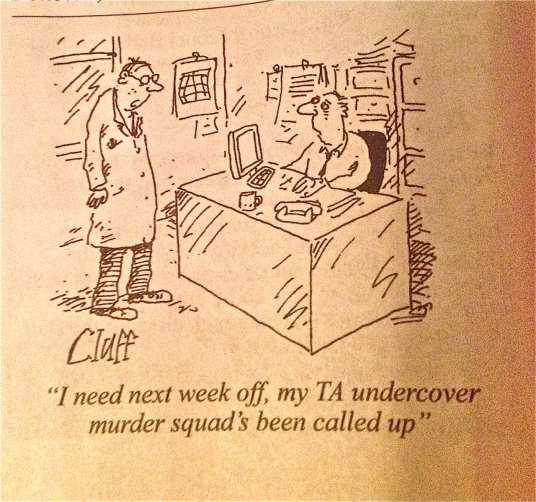 With the apparent arrival of see-through spying, can transparent black ops be far behind? - 'Cluff' for Private Eye