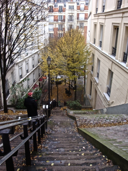 Marcel was surely here: a Parisian backstreet not far from Sacré Couer - postgutenberg [@] gmail.com