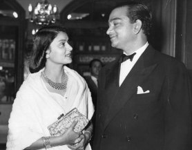 Nigella on screens last week; Maharani Gayatri Devi with the Maharaja of Jaipur, 1955 - The Evening Standard