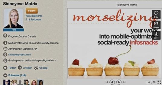 'morselizing'- SIDNEYEVE MATRIX slide
