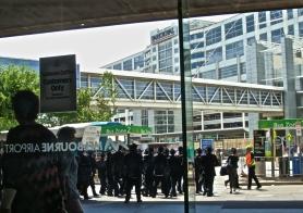 Hasidic cantors arriving at Melbourne Airport  --postgutenberg@gmail.com