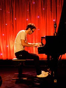 James Rhodes at the piano