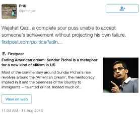 sundar pichai supporter tweet