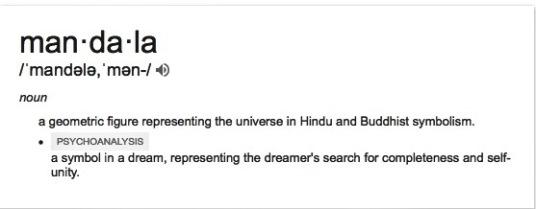mandala google dictionary